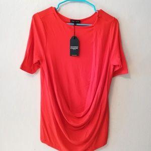 Universal Standard red draped jersey, NWT!